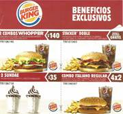 Ofertas de Alimentos  en el folleto de Burger King