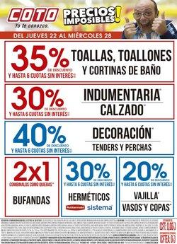 Ofertas de Hiper-Supermercados en el catálogo de Coto ( Vence hoy)