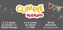 Cupón Neverland en Gregorio de Laferrere ( 2 días más )