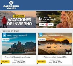 Ofertas de Viajes en el catálogo de Garbarino Viajes ( 6 días más)