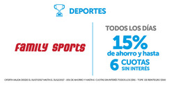 Ofertas de Family Sport  en el folleto de San Justo (Buenos Aires)
