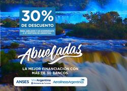 Ofertas de Viajes  en el folleto de Aerolineas Argentinas en Salta