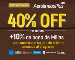 Ofertas de Viajes  en el folleto de Aerolineas Argentinas en Punta Alta