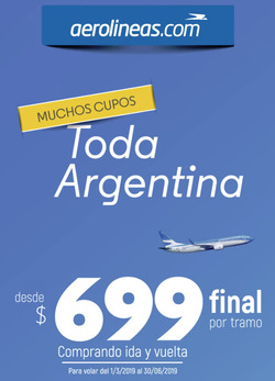 Ofertas de Aerolineas Argentinas  en el folleto de Capilla del Monte