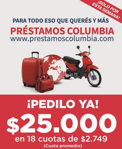 Ofertas de Bancos y seguros  en el folleto de Banco Columbia en Corrientes