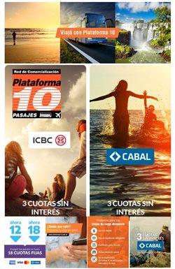 Ofertas de Viajes en el catálogo de Plataforma 10 en Avellaneda (Buenos Aires) ( 3 días más )