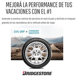 Ofertas de Autos, motos y repuestos  en el folleto de Bridgestone en Azul