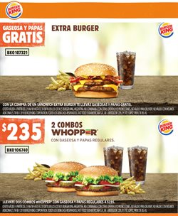 Ofertas de Restaurantes  en el folleto de Burger King en Allen
