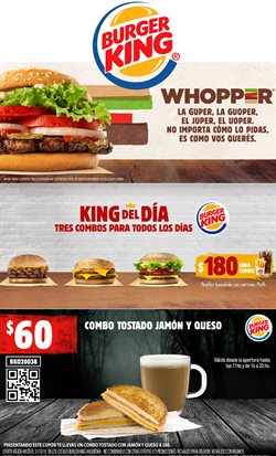 Ofertas de Burger King  en el folleto de Tortuguitas