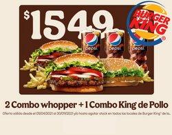 Ofertas de Restaurantes en el catálogo de Burger King ( 7 días más)