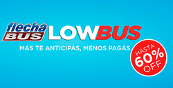 Ofertas de Viajes  en el folleto de Flechabus en Martínez