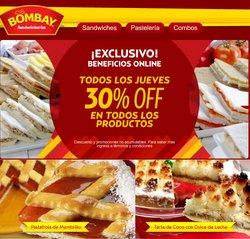 Ofertas de Restaurantes en el catálogo de Sandwicherías Bombay ( 11 días más)