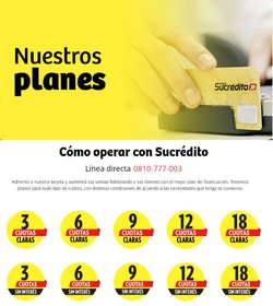 Ofertas de Tarjeta Sucredito en el catálogo de Tarjeta Sucredito ( Más de un mes)
