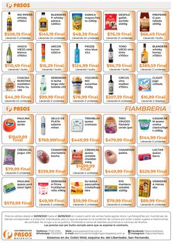 Ofertas de Pasos Supermercado en el catálogo de Pasos Supermercado ( 3 días más)