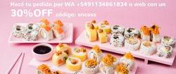 Cupón Sushi Pop en Tunuyán ( 6 días más )
