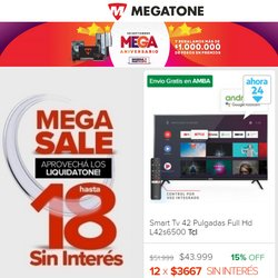 Ofertas de Megatone en el catálogo de Megatone ( 14 días más)