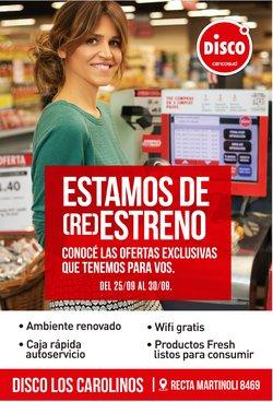 Ofertas de Hiper-Supermercados en el catálogo de Disco ( 3 días más)