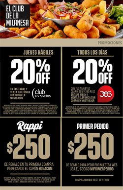 Ofertas de Restaurantes en el catálogo de El Club de la Milanesa en San Isidro (Buenos Aires) ( Publicado ayer )