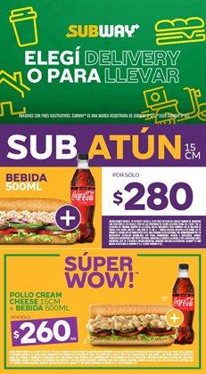 Ofertas de Restaurantes en el catálogo de Subway en San Isidro (Buenos Aires) ( 9 días más )