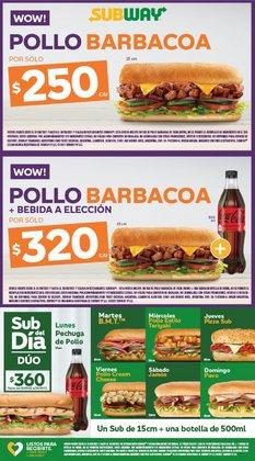 Ofertas de Restaurantes en el catálogo de Subway ( 2 días más)