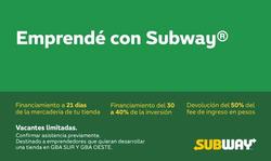 Ofertas de Subway  en el folleto de Microcentro
