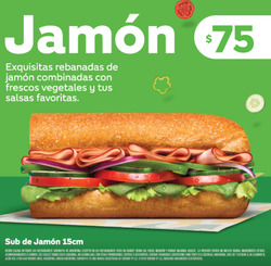 Ofertas de Subway  en el folleto de Puerto Iguazú