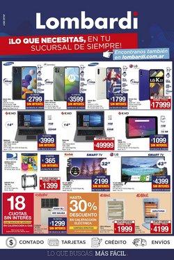 Ofertas de Electrónica y Electrodomésticos en el catálogo de Lombardi ( 21 días más)