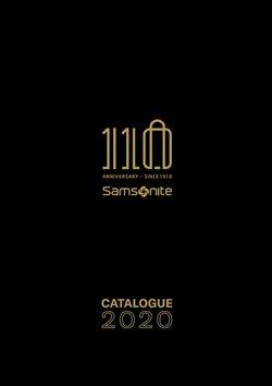 Catálogo Samsonite en Cipolletti ( Más de un mes )