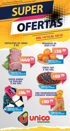 Ofertas de Unico Supermercados en el catálogo de Unico Supermercados ( Publicado ayer)