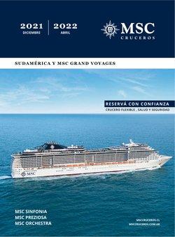 Ofertas de Viajes en el catálogo de MSC Cruceros ( Más de un mes)