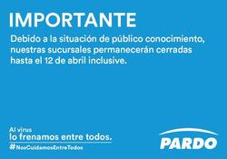 Cupón Pardo Hogar en Villa María ( Publicado ayer )