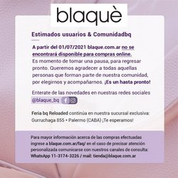 Ofertas de Blaquè en el catálogo de Blaquè ( 10 días más)