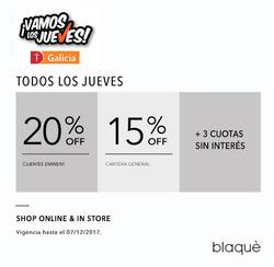Ofertas de Blaquè  en el folleto de Buenos Aires