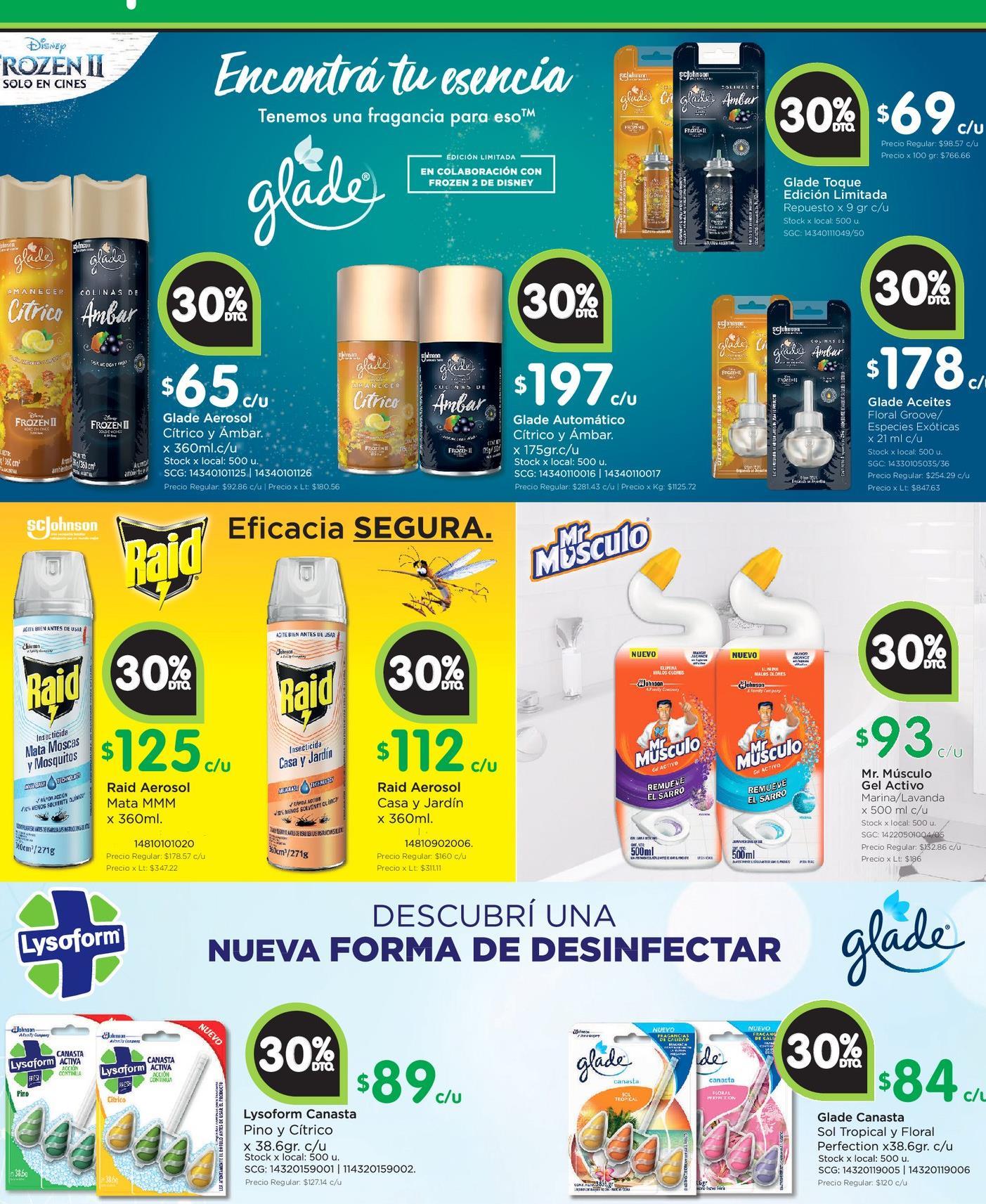 Oferta de Productos de limpieza por