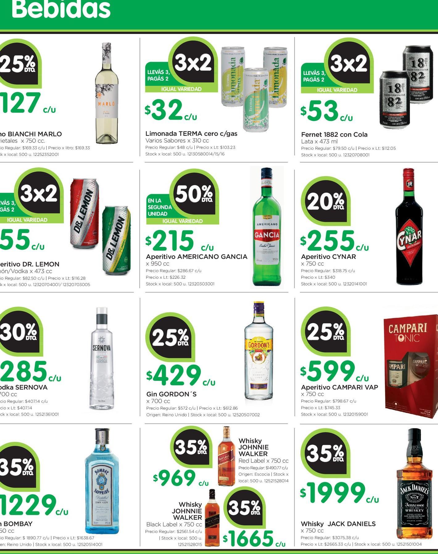 Oferta de Bebidas por