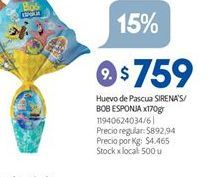 Oferta de Huevo de chocolate Arcor por $759