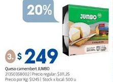 Oferta de Quesos Jumbo por $249