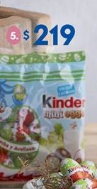 Oferta de Huevo de chocolate Kinder por