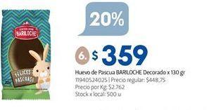 Oferta de Huevo de chocolate Bariloche por $359