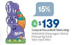 Oferta de Conejo Milka por $139
