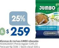 Oferta de Milanesa de merluza Jumbo por $259
