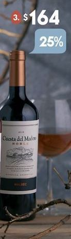 Oferta de Vino Cuesta del Madero por $164