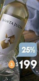 Oferta de Vino Santa Julia por $199