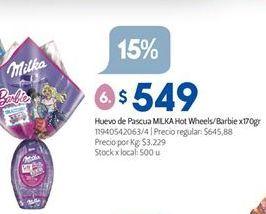 Oferta de Huevo de chocolate Milka por $549
