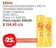 Oferta de Shampoo Sedal por $124,43