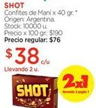 Oferta de Golosinas Shot por $38