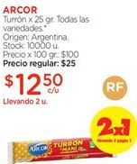 Oferta de Turrón Arcor por $12,5