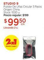 Oferta de Pulidor de uñas STUDIO 9 por $99,5