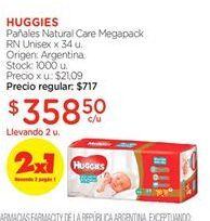Oferta de Pañales Huggies por $358,5