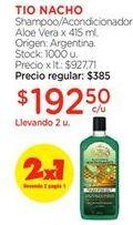 Oferta de Shampoo tio nacho por $192,5
